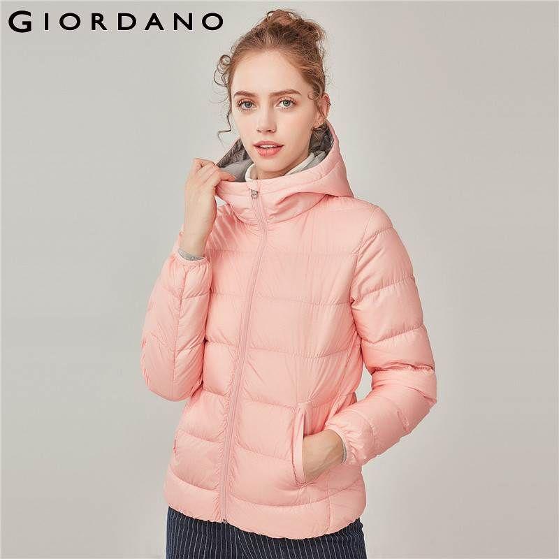 Giordano Frauen Unten Jacke Frauen Mit Kapuze Leichte Daunen Jacke 90% Weiße Ente Unten Jacke Mantel Frauen Winter Jacke Packable