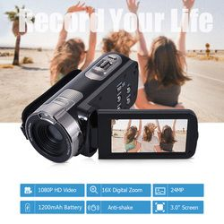 Цифровая видеокамера HDV-302P 24MP 1080P Full HD цифровая камера 16X цифровой зум 3,0 дюймов Анти-встряхивание 3.0MP CMOS DV видеокамера