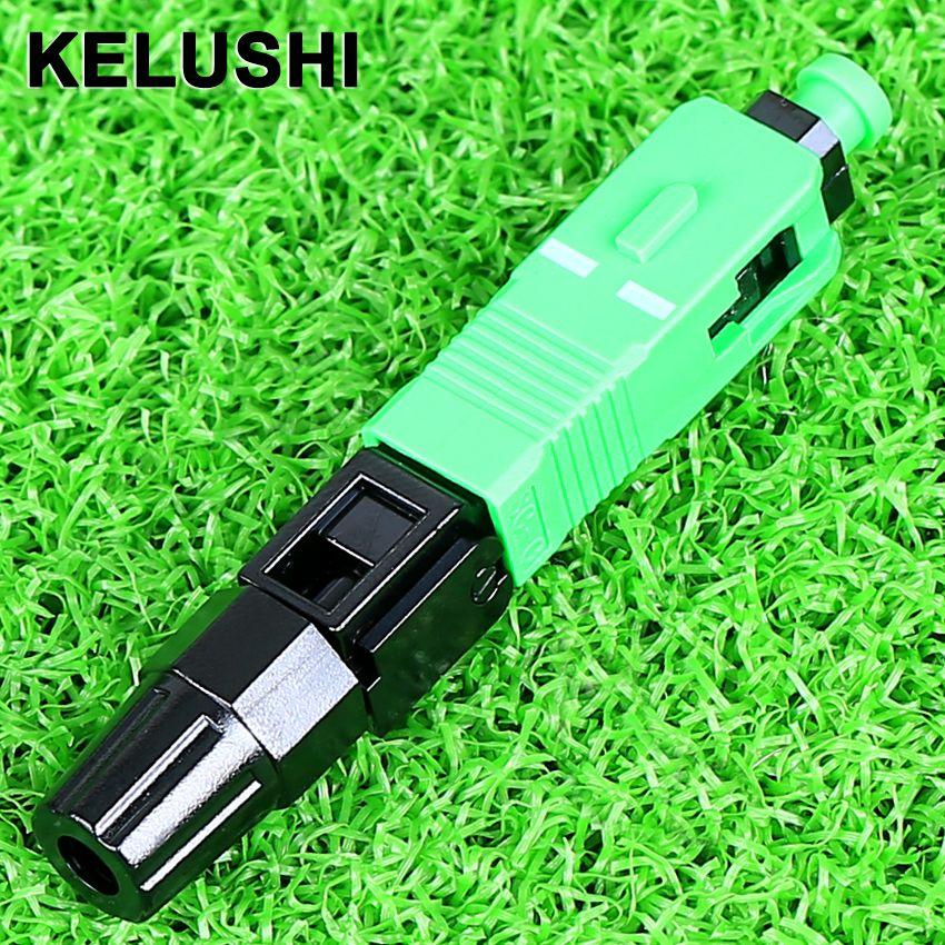 KELUSHI 100 pcs SC UN P C rapide connecteur/fiber optique connecteur rapide/utilisé câble de fiber rapide connecteur