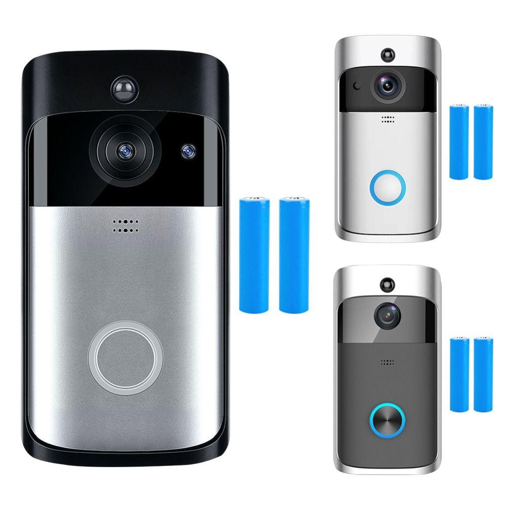 WiFi Intelligent Sans Fil de Sécurité Sonnette HD 720 p Visuel Interphone Enregistrement Vidéo Porte Téléphone À Distance Surveillance À Domicile Nuit Vision
