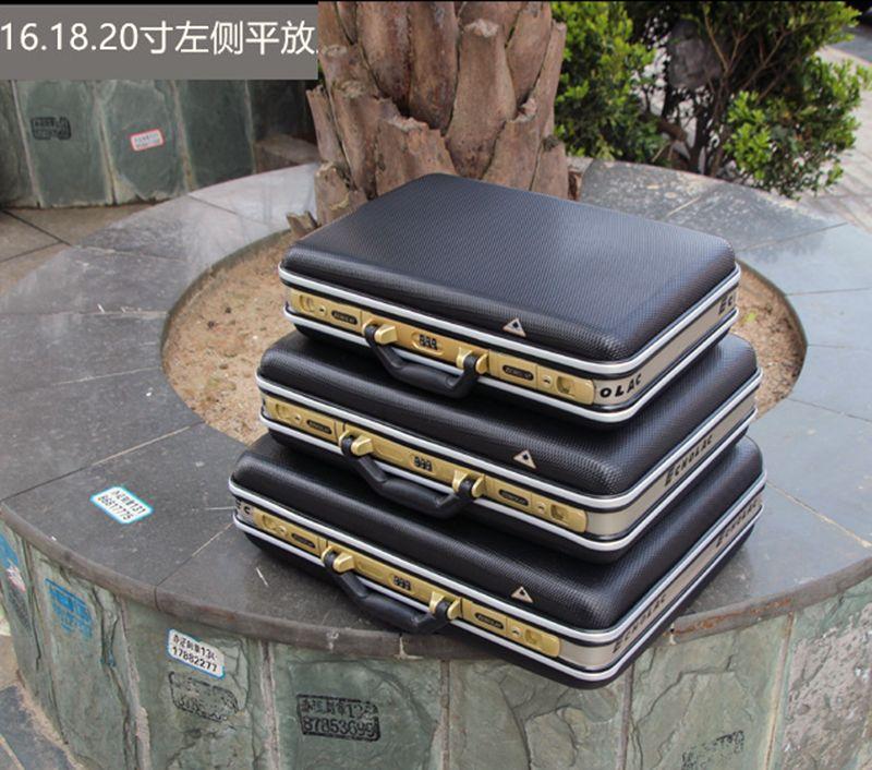 Mallette à outils en aluminium de haute qualité valise boîte à outils boîte à mot de passe boîte à fichiers résistant aux chocs