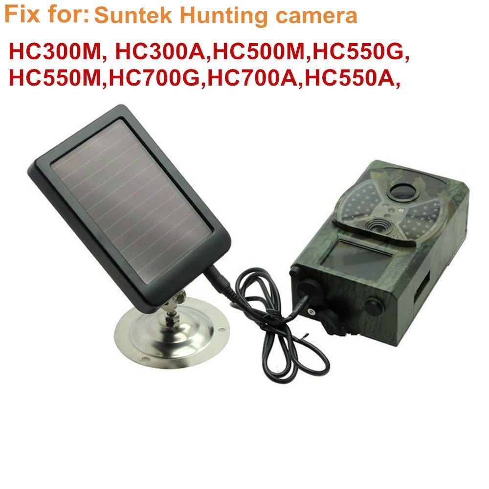HC300M Solar Panel Battery External Power Charger for Suntek Hunting photo traps camera HC500M HC700G HC550M HC700G HC350M