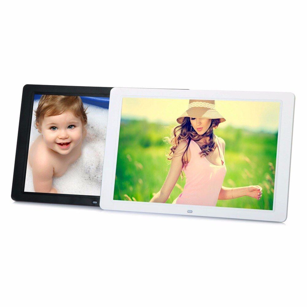 In stock! 15 LED HD High Resolution Digital Picture Photo Frame + Remote Controller EU Plug Black / White Color Newest