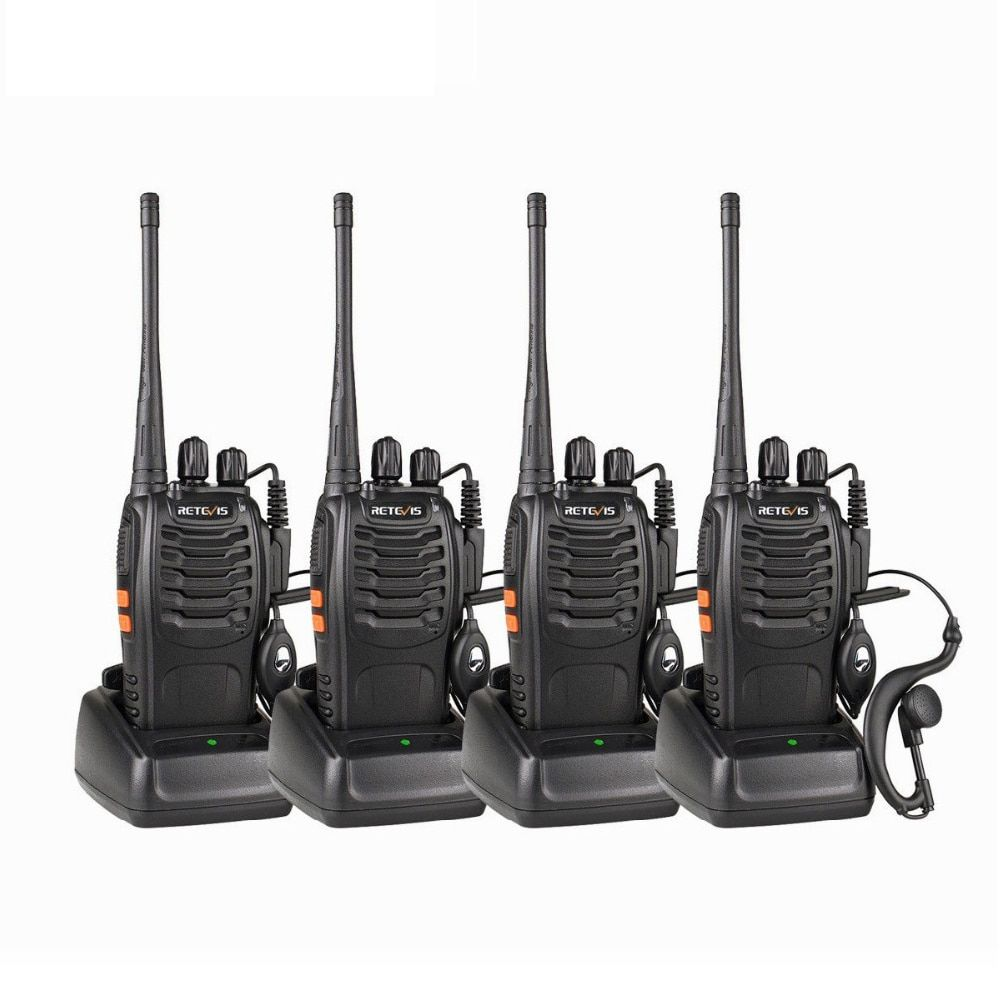 4pcs Handy Walkie Talkie RETEVIS H777 3W UHF Transceiver Two Way Radio Station Communicator Two-way Radio Walkie-Talkie Hotel
