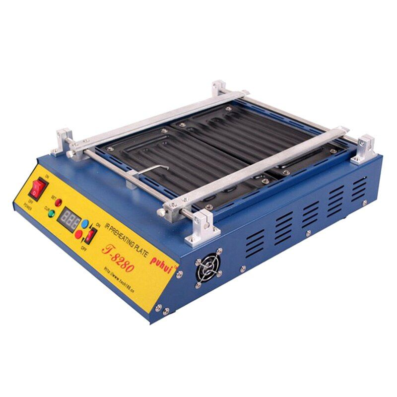 PUHUI T-8280 IR-Preheating Oven 110V 220V 1500W T8280 Preheat Plate 280*270mm Infrared Pre-heating Station FOR PCB SMD BGA