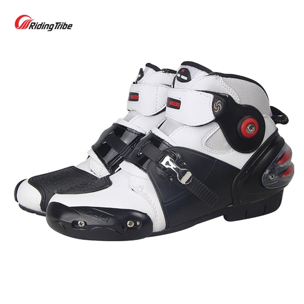 Riding Tribe Microfiber Motorcross Riding Shoes Motorcycle Racing Protective Ankle Boots Anticollision Non-slip 2017New A9003