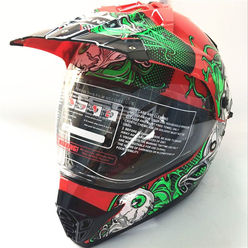 Double visors Motocross motorcycle helmet man personality  full highway breathable sunscreen vintage capacity casquecar helmet