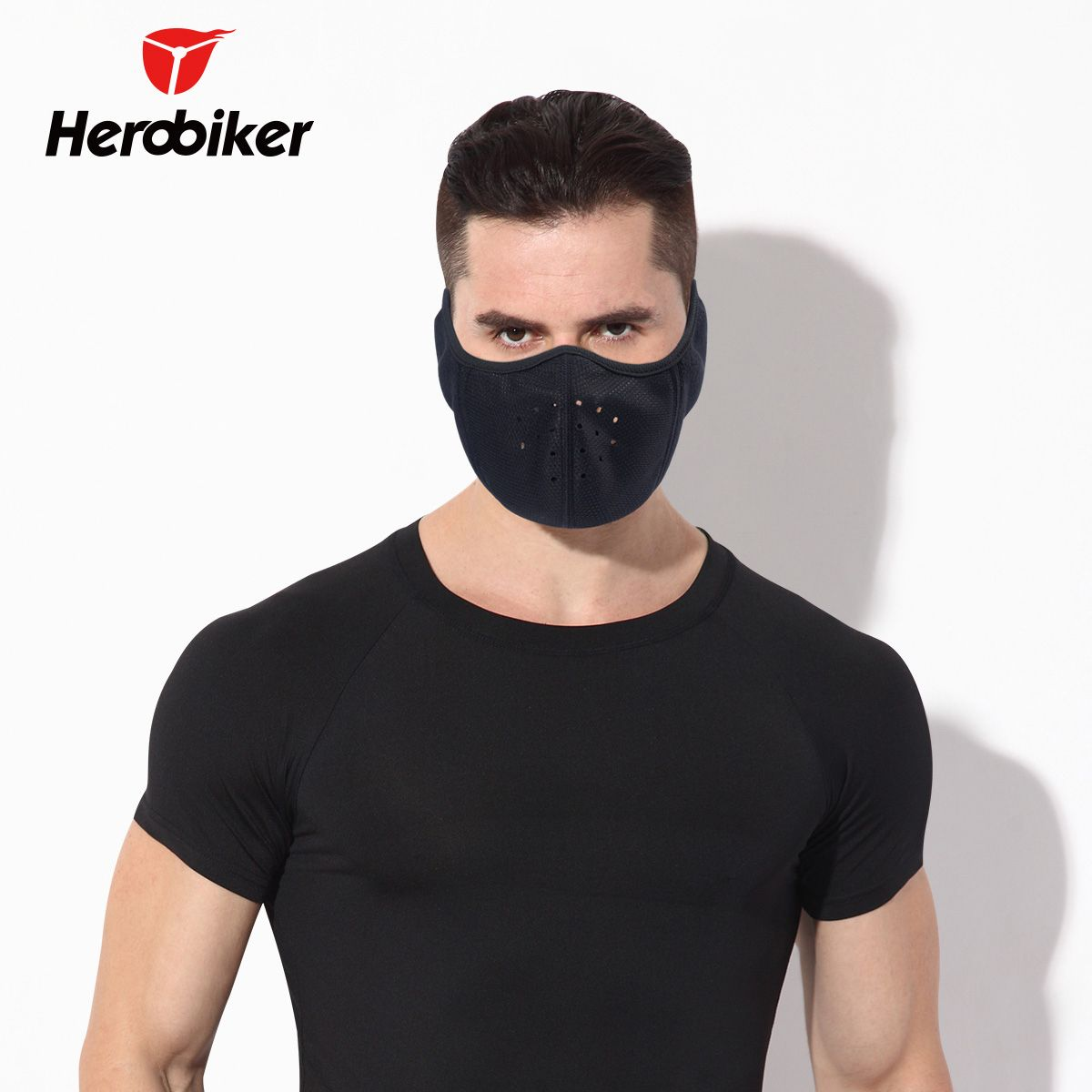 HEROBIKER Motorcycle Face Mask Keep Warm Motorcycle Ski Mask Winter Protect the Neck Half Face Mask Breathing Cold Mask