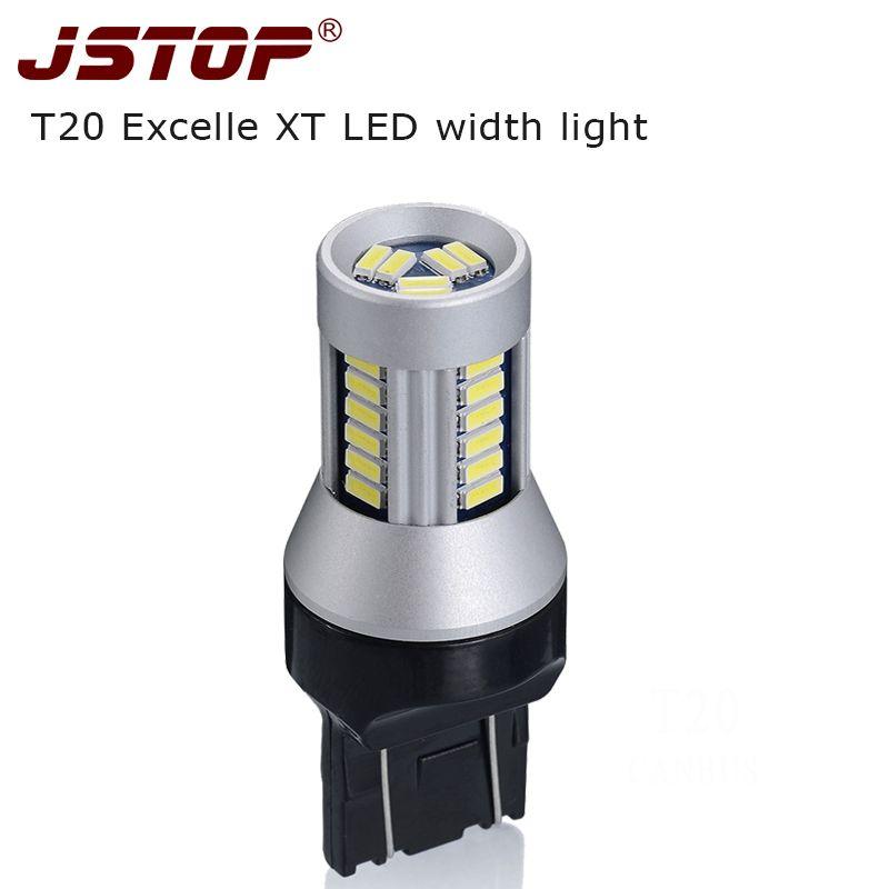 JSTOP XT largeur lumières 7443 lampe Super lumineuse 24 V feux de jour led 12 V T20 W21/5 W lampe 4014SMD lumière de dégagement led ampoules de signal