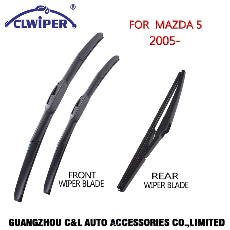 CLEWIPER Front and Rear Wiper Blades For MAZDA 5 (2005-)2006 2007 2008 2009 2010 2011 2012 2013 2015 Windshield Wiper 26