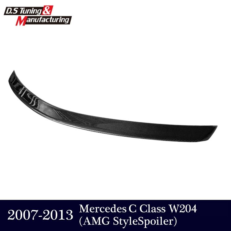 AMG style Mercedes W204 Carbon Fiber Rear Trunk Tail Wing Spoiler For Benz C Class W204 2007 - 2013 C180 C200 C300 C350 sedan