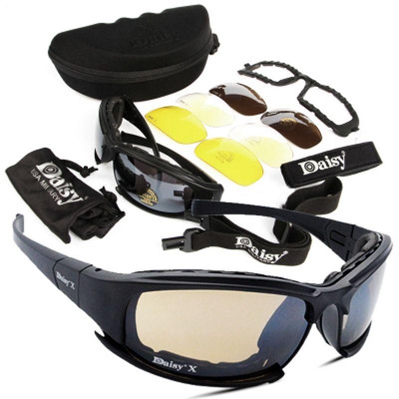 Tactique D a i s y Lunettes Militaire Armée Lunettes lunettes de Soleil Avec 4 Lentille Boîte D'origine Hommes Tir Lunettes Gafas