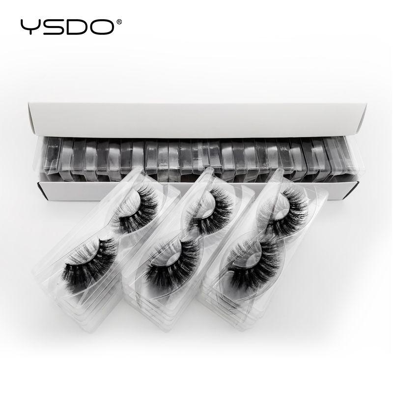 YSDO 30 pairs wimpern großhandel hand made nerz wimpern natürliche wimpern falsche wimpern flauschige wimpern make-up 3d nerz wimpern
