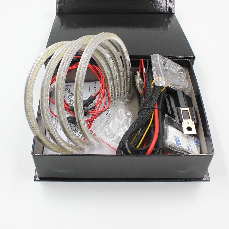 FSYLX 120SMD LED Angel Eyes for BMW E46 E39 E38 E36 projector led headlights halo ring kit for e46 white 4*131mm