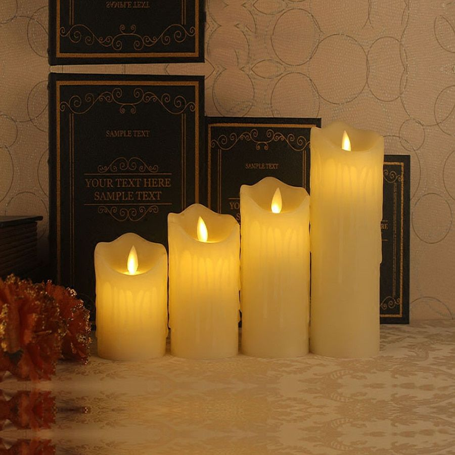 1 pc Télécommande LED Électronique Sans Flamme Bougie Lumières Simulation Flamme Clignotant LED Bougies de Partie du Jour de Valentine Décoration