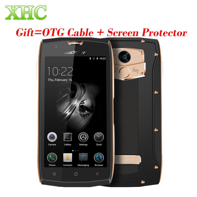 Blackview BV7000 Pro Android 6.0 Mobile Téléphone IP68 Étanche 64 GB tactile ID 5.5 ''FHD 4G LTE MTK6750T Octa Core 3 GB Smartphone