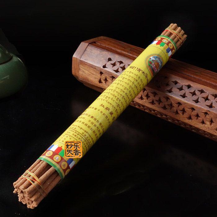 Bâtons d'encens faits à la main du comté de Tibet Nyemo, guérison naturelle de méditation bouddhiste, arôme agréable brûlant un cadeau de bénédiction