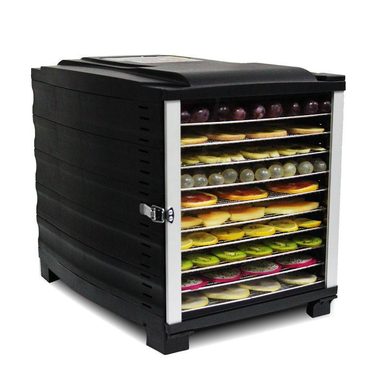 Edelstahl Lebensmittel Gemüse Trocknen Maschine Hause 10 Schicht Zahnriemen Elektrische Dörr Obst Tee Kräuter Fleisch Luft Trockner Gerät