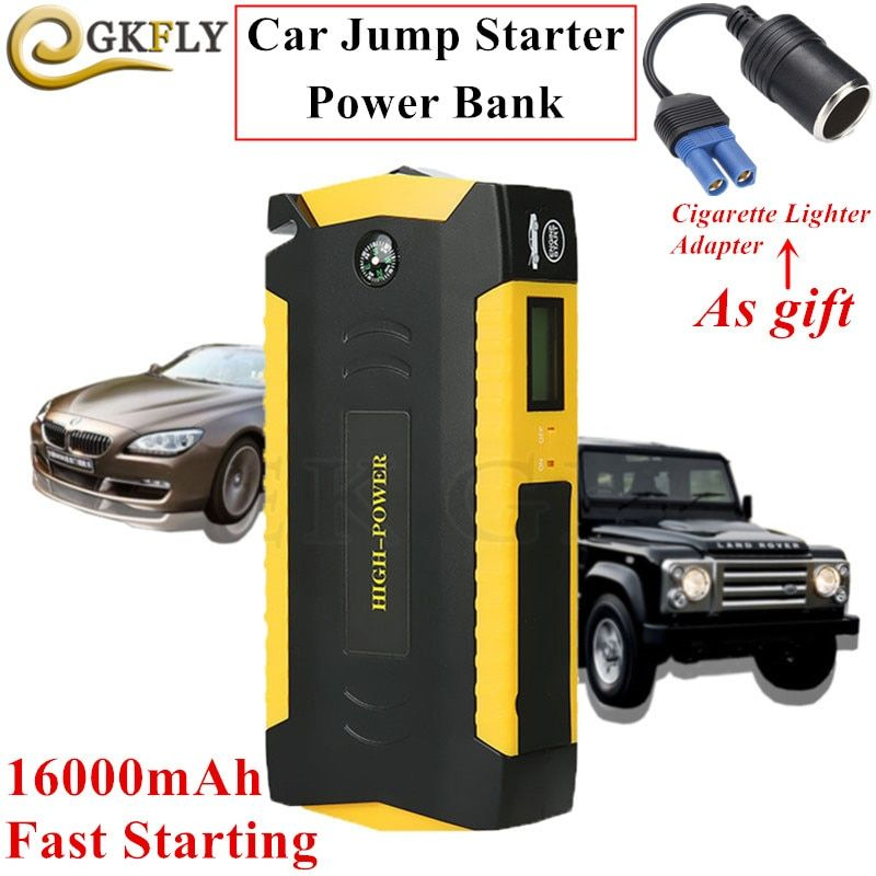Multi-function 16000mAh Starting Device 600A 12V Car Starter Jumper Portable Car Charger For Car Battery Booster Auto Buster LED