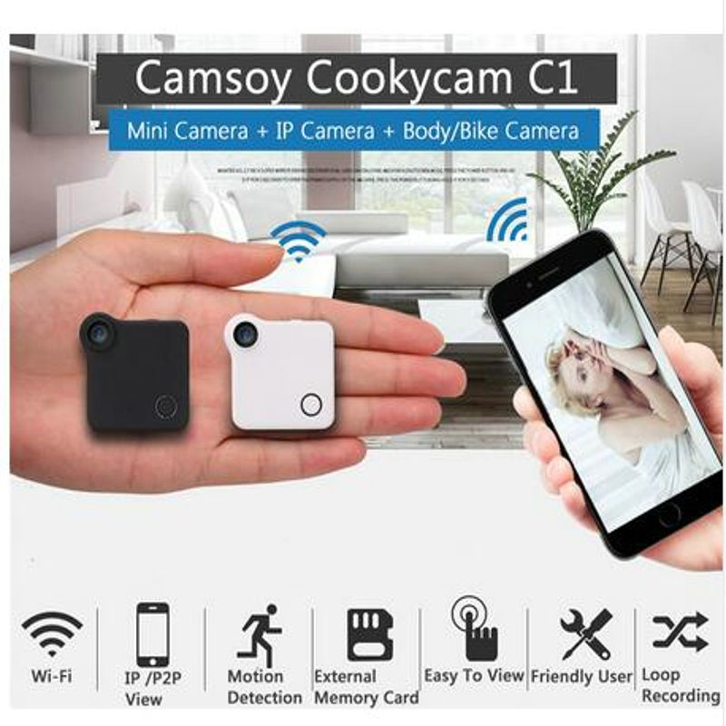 C1 Mini Camera DVR Wifi P2P IP 720P H.264 HD Mini Camera Wireless Action Cam Bike Camera Mini DV Camera Video Recorder
