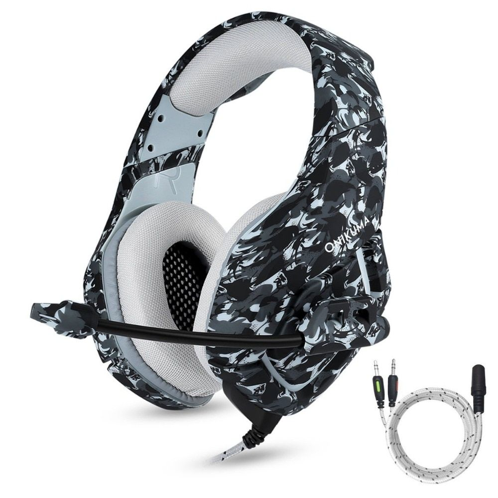 Camouflage Gaming Headset PS4 PC Computer Xbox One Headset Gamer Gaming Headphone With Microphone,Mic For Computer Moblie Phone