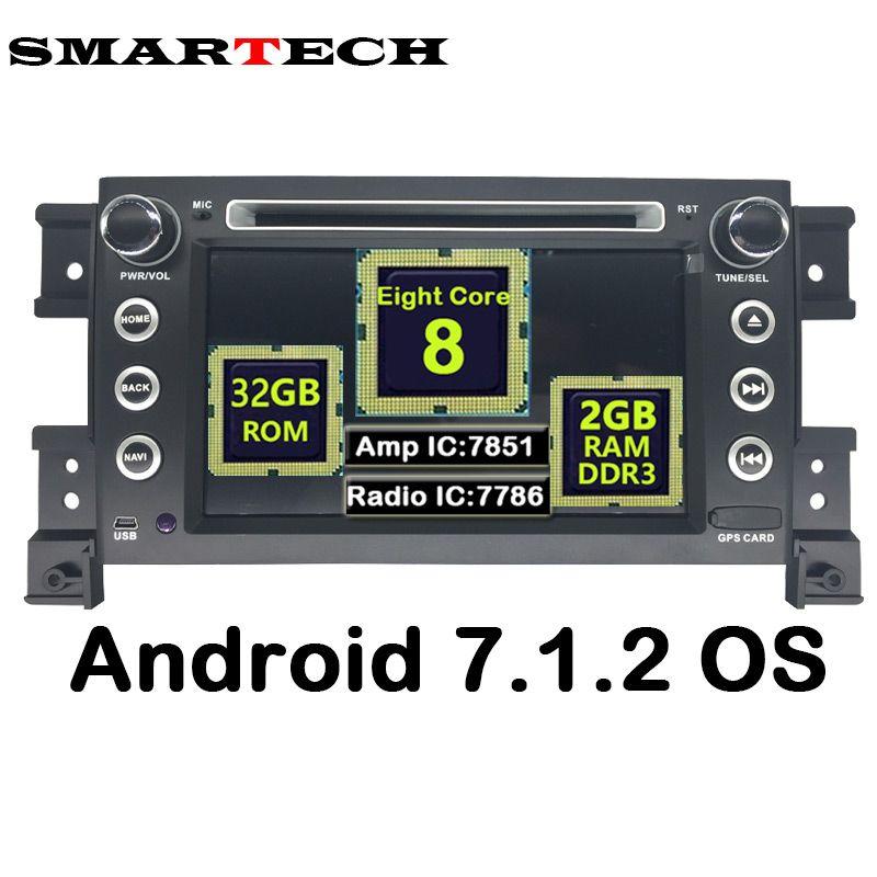 SMARTECH 8 Core 2Din Android 7.1.2 Auto Stereo Radio DVD GPS Navigation Für Suzuki Grand Vitara 2007-2011 Auto Audio Video Player