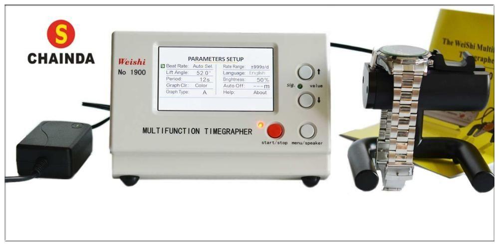 Weishi Multifonctions Timegrapher Professionnel Mécanique Montre Machine D'essai NO 1900