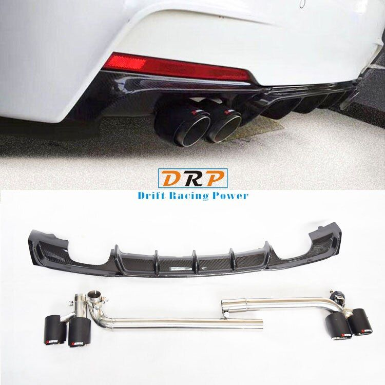 Good Quality bilateral double carbon fiber tail throat  fit 17-18 BMW 3 Series gt320 320 420 425 428MP MT and original bodykit