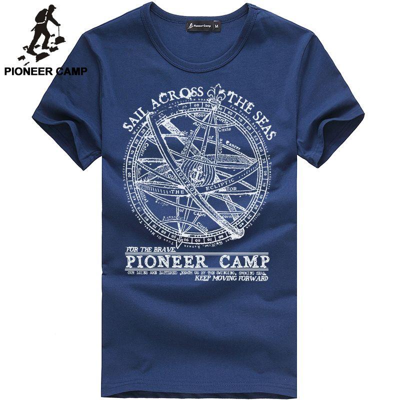 Pioneer Camp 2018 short sleeve t shirt men fashion brand design 100% cotton T-shirt male quality print tshirts o-neck 405038