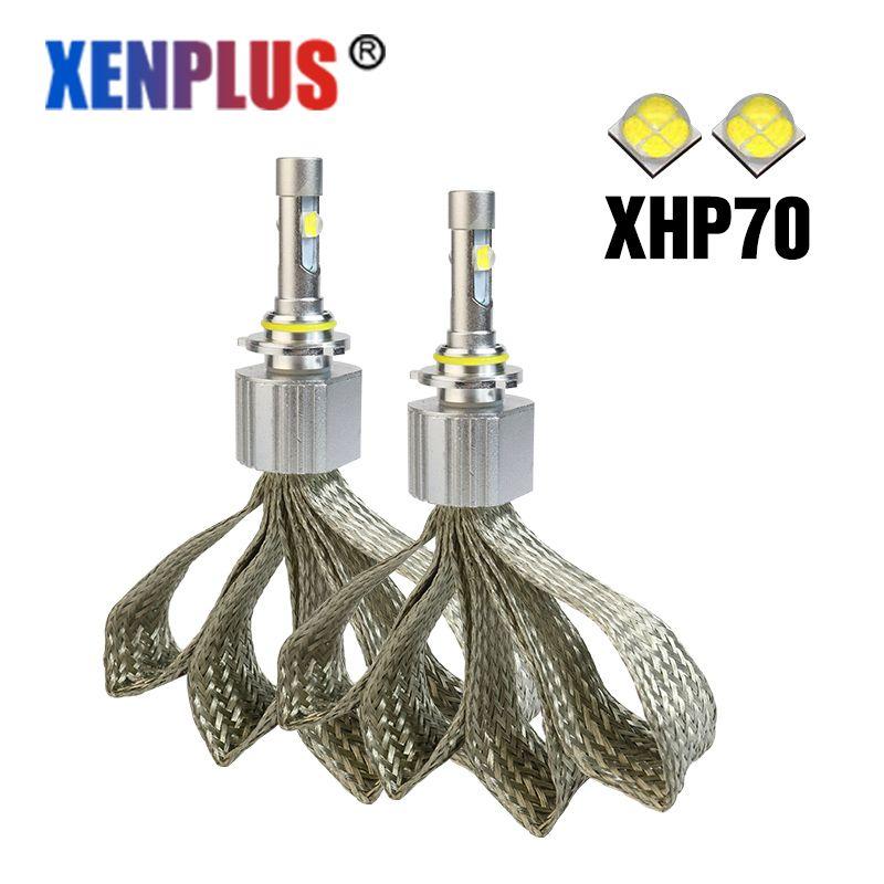 Xenplus d2s led Auto headlight XHP-70 Cree chip 12V 55w 6600lm powerful h7 h4 h7 h8 h11 9005 9006 9004 9007 h13 L7 bulbs for car
