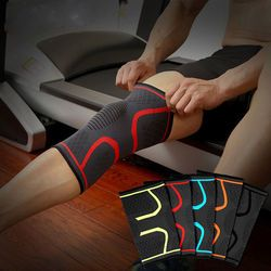 Fashion Convenient Sports Knee Pattern Print Pad Wrap Support Brace Gym Arthritis Injury Sleeve Protector With 4 Color