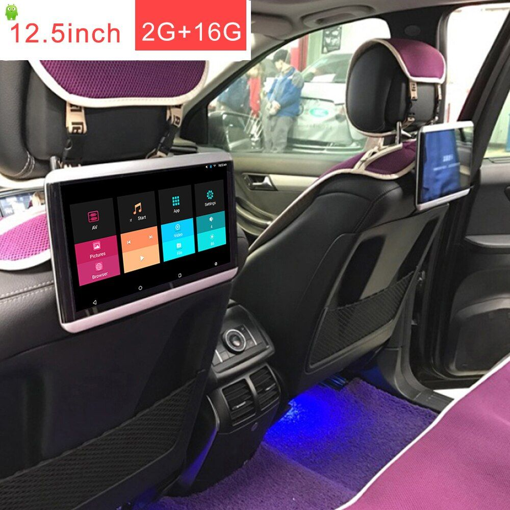 12,5 zoll 1920*1080 touch screen 2 GB 16 GB Auto android 6.0 kopfstütze monitor 1 stücke mit bluetooth RCA out/in HDMI ausgang