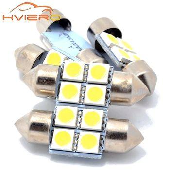 10X Blanc 5050 4smd 31mm C5W LED Micro Général Voiture Led Feston dôme LED Ampoules Lampe DC 12 V Éclairage Intérieur Lecture Porte Led