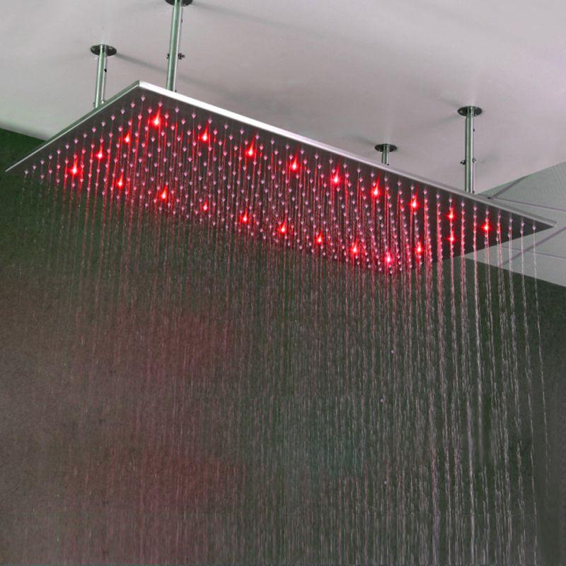 Big Duschkopf Regendecken Regen Dusche SUS304 500*1000mm Wasserkraft Duschköpfe Mit douchestang LED-Beleuchtung duschen