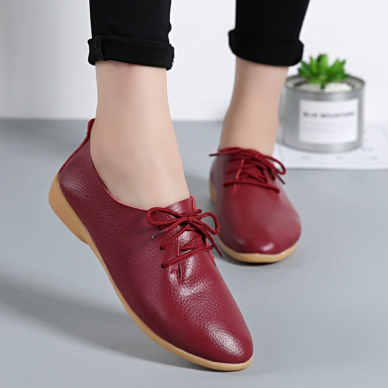 2018 Spring Summer Shoes Women Flats Soft Moccasins Footwear Women Casual Shoes Pointed Toe Comfortable Ladies Loafers BT700