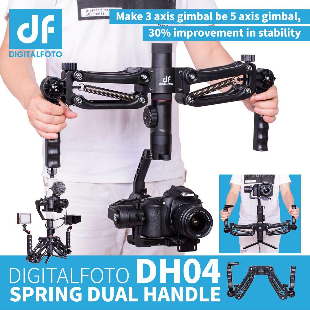 DH04 4.5KG load 3 axis Gimbal Handlebars Spring Dual Handle Grip for RONIN S Zhiyun Smooth 4 Crane 2 Crane Plus Feiyu DJI OSMO 2