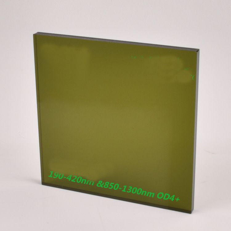 200mm x 200mm laserschutz windows für 445nm 450nm 515nm 520nm 532nm laser oder 980nm 1064nm 1070nm laser mit o. d 4 +