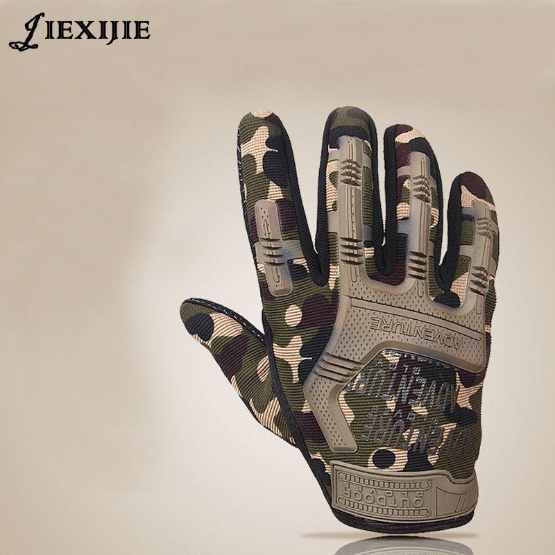 Gants tactiques complet doigt armée gants antidérapants microfibre hommes gants empêchent glissante résistant à l'usure jxj-145