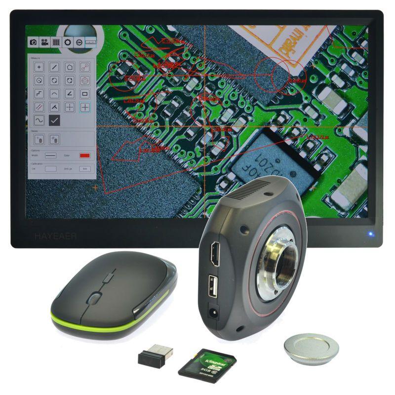 1080P HDMI USB Microscope Camera High Speed Industrial Calibrate Camera microscopio Digital Calibrator Measurement for Research