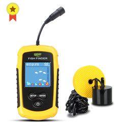 Бесплатная доставка! FFC1108-1 Лидер продаж сигнализации 100 м Портативный Sonar ЖК-дисплей Эхолоты Рыбная ловля приманки эхолот Рыбная ловля Finder