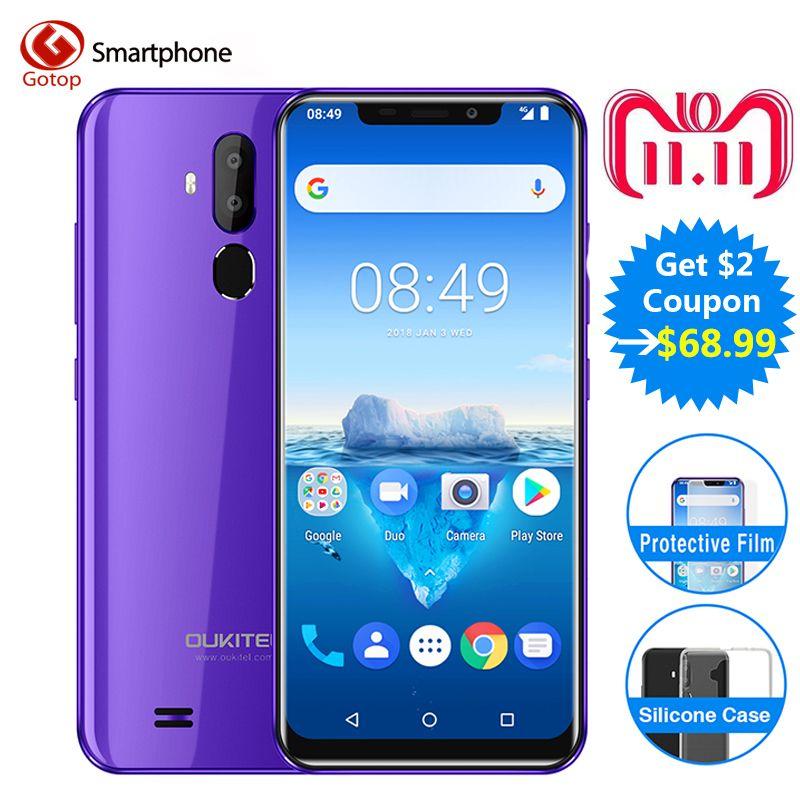 Oukitel C12 Pro Face ID 6.18Inch 19:9 U-notch Display Android 8.1 2GB RAM 16GB ROM MT6739 3300mAh Battery 8MP+5MP 4G Smartphone