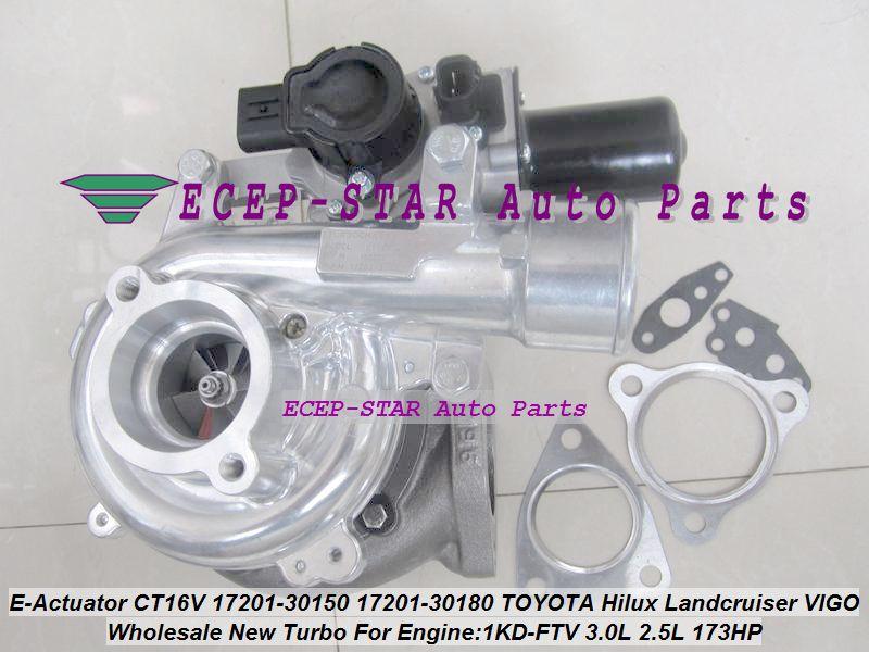 + Elektrischen Stellantrieb Magnet CT16V 17201-30150 17201-30180 Turbo Für TOYOTA Hilux Landcruiser KZJ90 KZJ95 VIGO 1KD-FTV 3.0L 2.5L