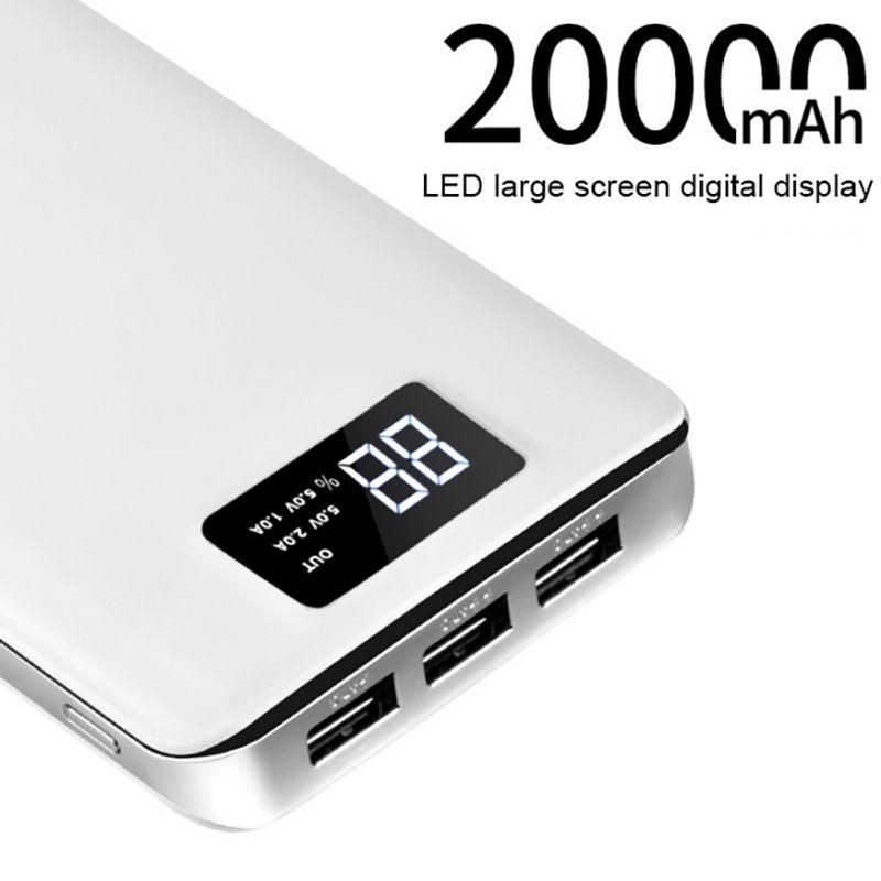 НОСО 3 USB мобильного Запасные Аккумуляторы для телефонов 20000 мАч Мощность портативное зарядное устройство Внешний Батарея 20000 мАч мобильног...