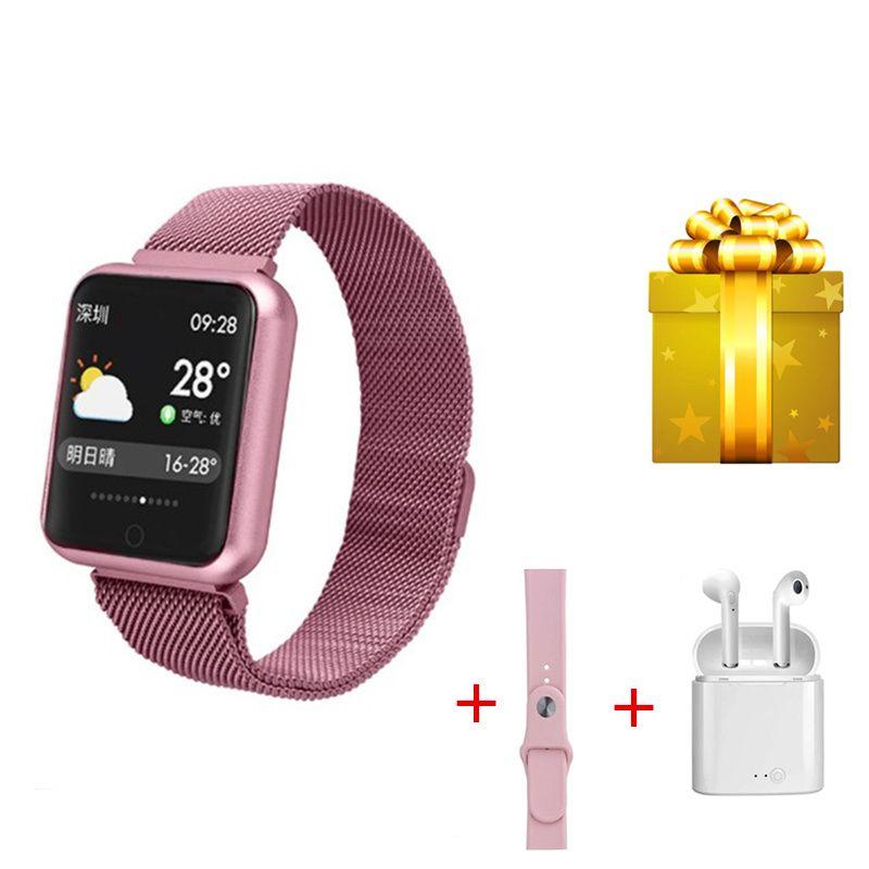 P68 Smart bracelet+earphone +belt/set bracelet smart watch women fitness tracker wristband for xiaomi band 4 huawei honor band 4