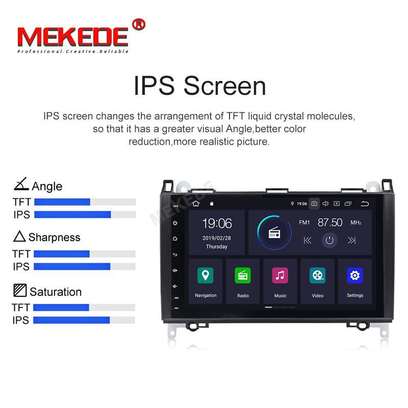 IPS DSP Android 9.0 2G 4 Core Auto GPS für Benz Sprinter B200 W209 W169 W169 W245 B170 Vito W639 DVD PLAYER stereo radio audio