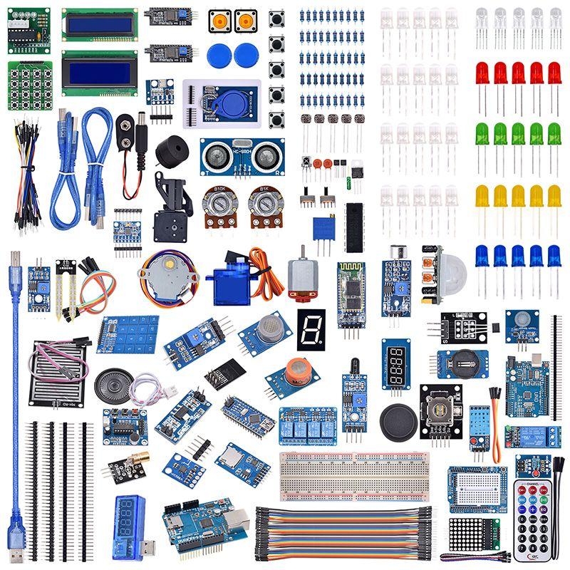 UNO R3 LCD Capteur Wifi Bluetooth Laser Débutant Starter Kit Pour Arduino