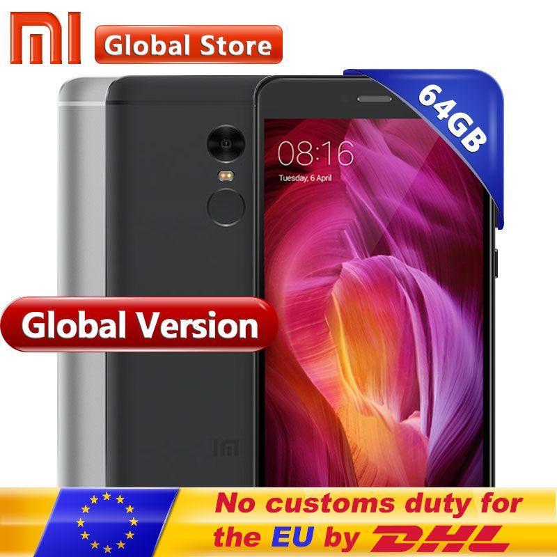 Global Version Xiaomi Redmi Note 4 4GB 64GB ROM Mobile Phone Snapdragon S625 Octa Core 5.5