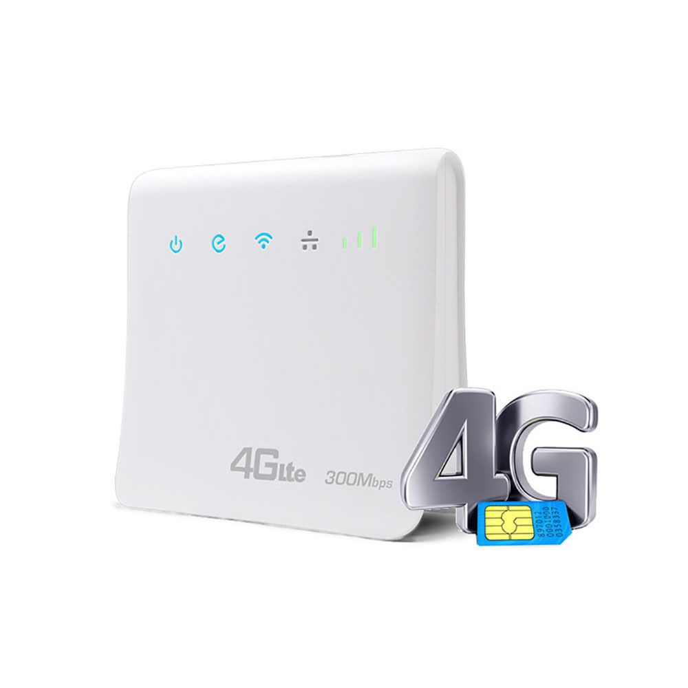 300Mbps Wifi Routers 4G LTE CPE Mobile Router with LAN Port Support AT&T SIM card and Europe/Asia/Middle East/Africa