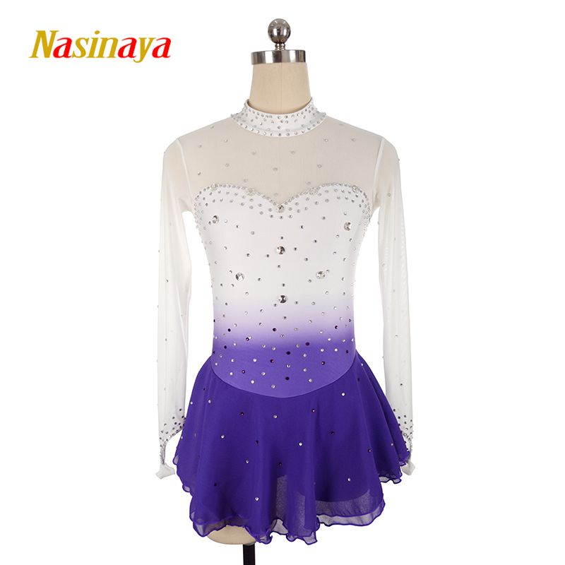 Nasinaya Figure Skating Dress Customized Competition Ice Skating Skirt for Girl Women Kids Patinaje Gymnastics Performance 22