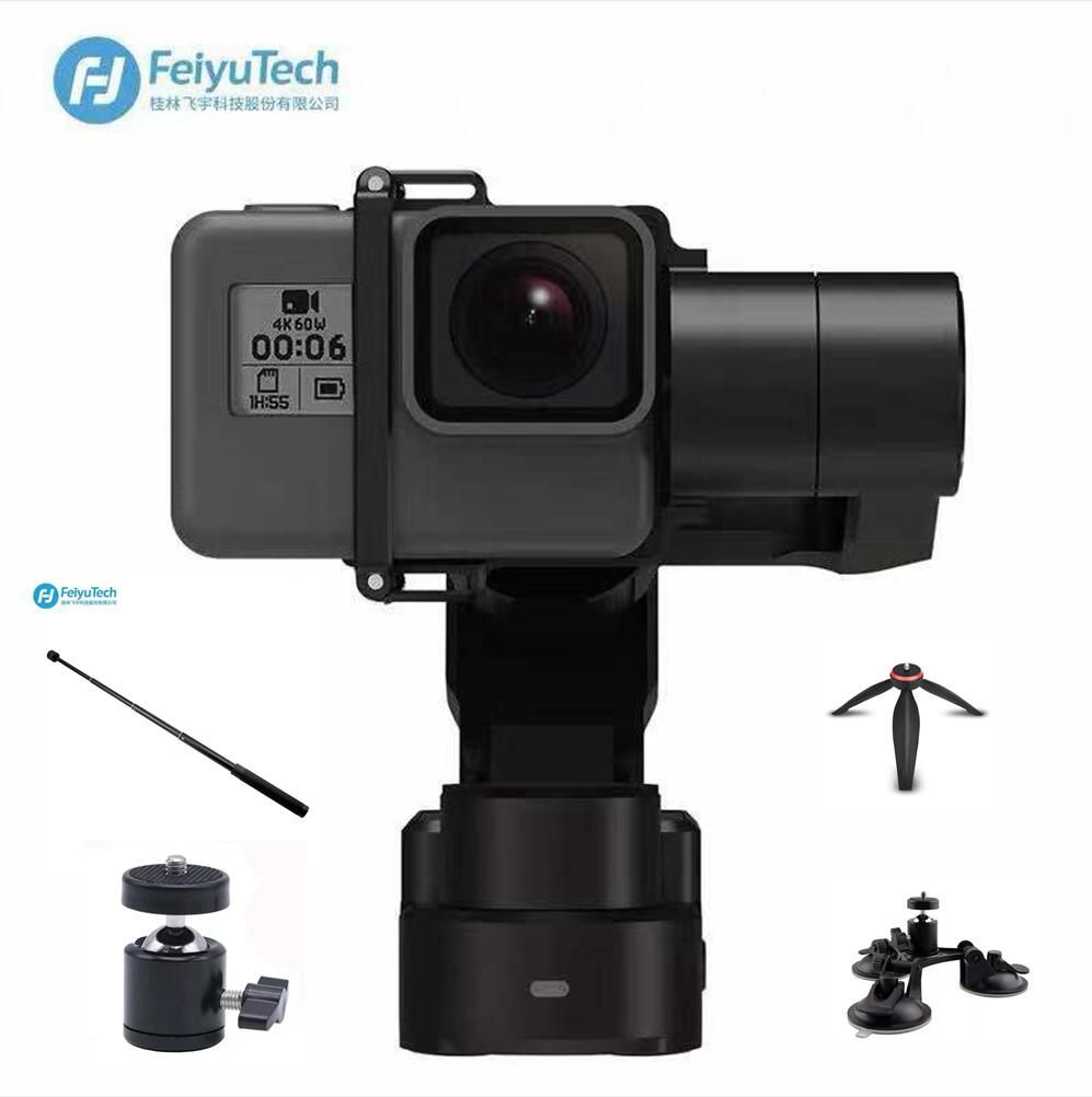 Feiyu WG2X Waterproof Wearable 3 Axis Gimbal with 360 Degree Panning Tilting Compatitable with Gopro Hero/Session 4/5 6 gopr7